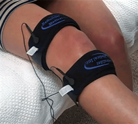 ReBuilder Joint straps treating the knee